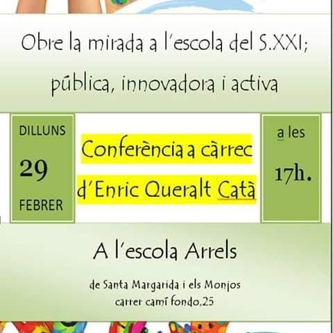 #Debatmestre Conferència d'Enric Queralt i Catà sobre l'escola del s.XXI: Una escola pública, innovadora i activa