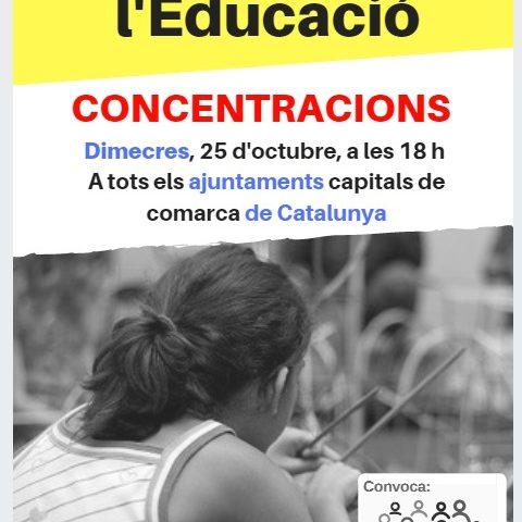#lescolanoestoca #NOenstoqueuleducacio Dimecres 25 , 18h Plaça del nostre ajuntament (MUCE)