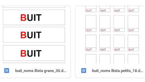 #Materials #EnBuit Cartells llista grans o petits 20,25,27/30